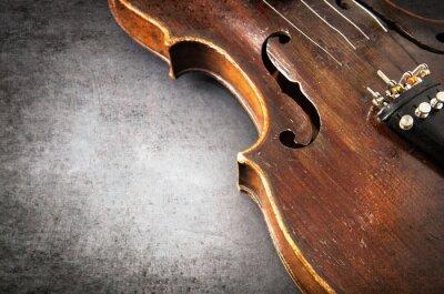 Papiers peints Violon instrument de musique d'orchestre agrandi