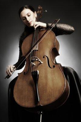 Papiers peints Violoncelle, joueur, violoncelle, jouer