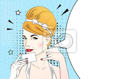Papiers Peints Visage Face La Femme Pop Art Pour Appeler Et Dtenir Une Carte De