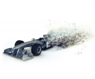 Voiture de course Générique 3D avec effet de vitesse