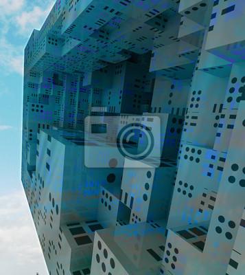 vol observation ville moderne concept de vaisseau spatial
