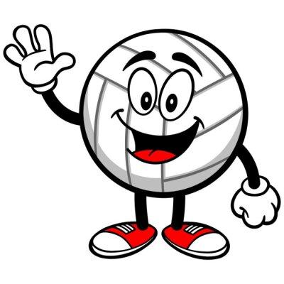 Papiers peints Volleyball Mascot Waving