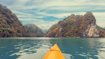 Papiers peints Voyage sur kayak coloré