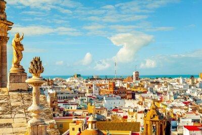 Papiers peints Vue aérienne de Cadix, Espagne
