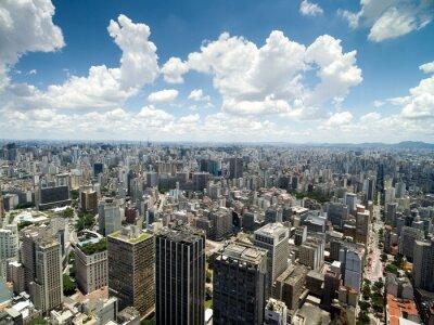 Papiers peints Vue aérienne de la vallée d'Anhangabau, Sao Paulo, Brésil