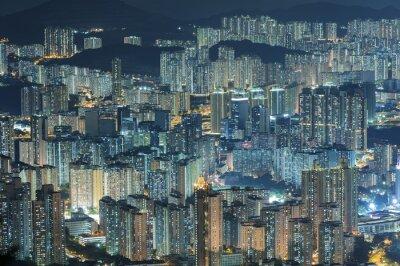 Papiers peints Vue aérienne de la ville de Hong Kong