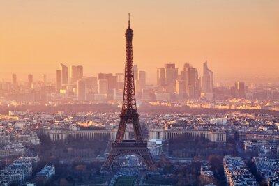 Papiers peints Vue aérienne de Paris au coucher du soleil
