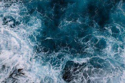 Papiers peints Vue aérienne des vagues de l'océan. Fond de l'eau bleue