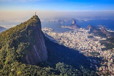 Papiers peints Vue aérienne du Christ Rédempteur et de la ville de Rio de Janeiro