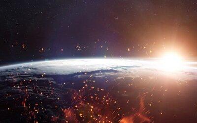 Papiers peints Vue de la terre depuis l'espace. Éléments de cette image fournis par la NASA