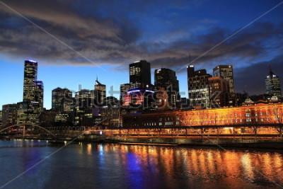 Papiers peints Vue de nuit de Melbourne en Australie
