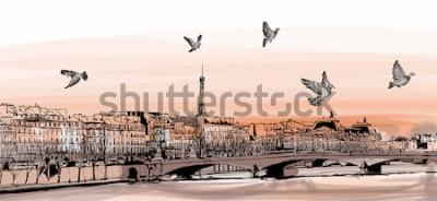 Papiers peints Vue de Paris depuis