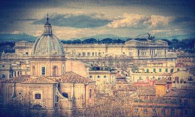 Papiers peints Vue de Rome. Rétro photo tonique
