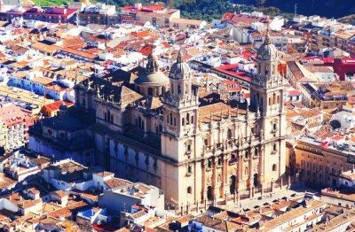 Papiers peints Vue ensoleillée de la cathédrale de Jaén