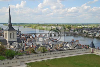 Papiers peints Vue générale de Saumur et de la Loire