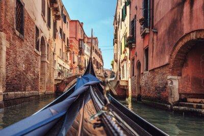 Papiers peints Vue, gondole, pendant, monter, par, canaux, Venise, i