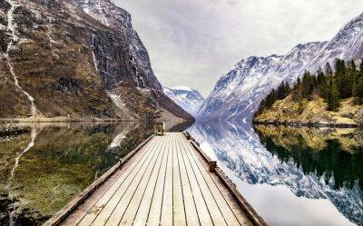 Papiers peints Vue, Gudvangen, village, fjord, Norvège