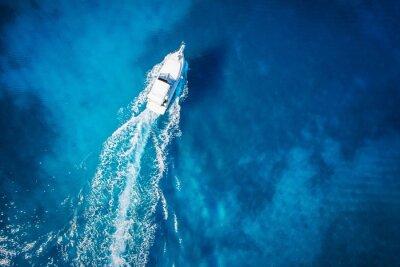 Papiers peints vue magnifique sur bateau et Clearwater paradis des Caraïbes