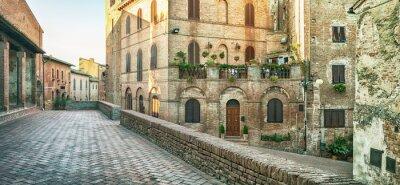 Papiers peints Vue panoramique de Certaldo, Italie.