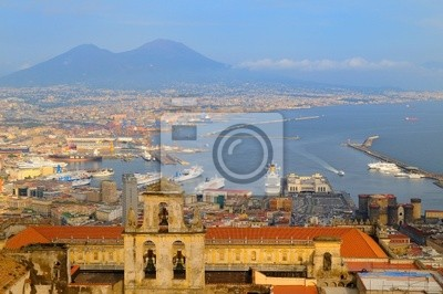 Papiers peints vue panoramique de la baie de Naples