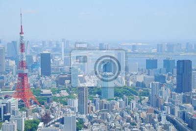 Papiers peints Vue panoramique de Tokyo et de la tour de Tokyo