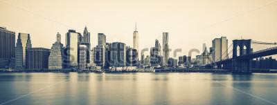 Papiers peints Vue panoramique du centre-ville de Manhattan à New York avec traitement photographique spécial