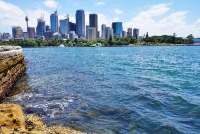 Papiers peints Vue panoramique, ville, Sydney, Horizon, port