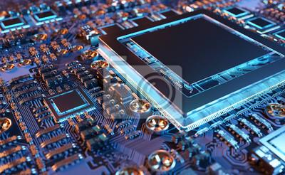 Papiers peints Vue rapprochée d'une carte GPU moderne avec circuit