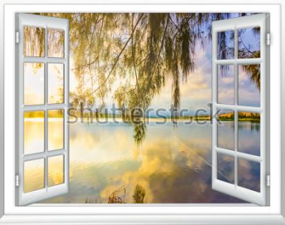 Papiers peints Vue sur l'océan paradis de la fenêtre sur l'île de journée d'été ensoleillée