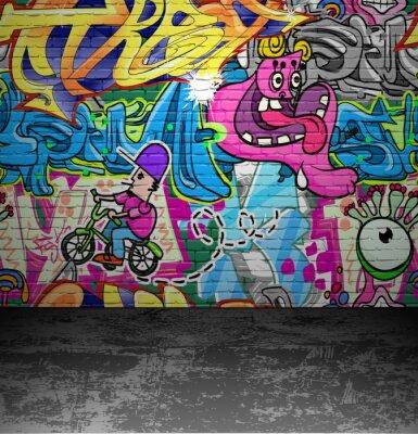 Papiers peints Wall street painting art urbain Graffiti