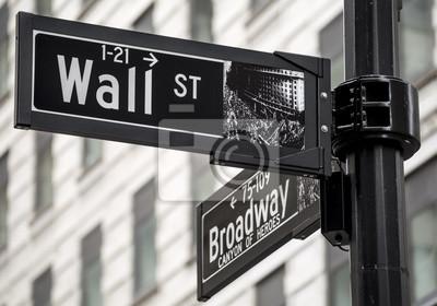 Papiers peints Wall Street signe à New York, États-Unis.