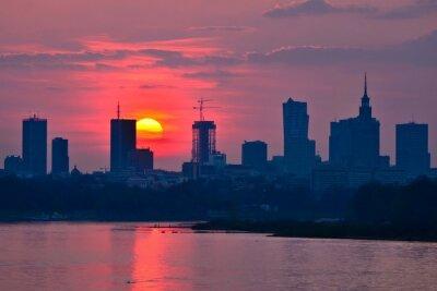 Papiers peints Warsaw Downtown sunset