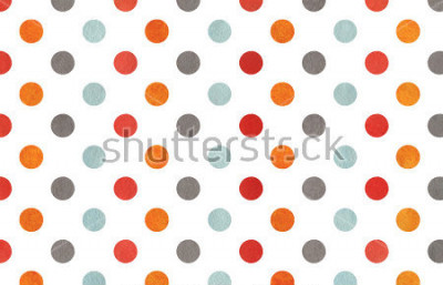 Papiers peints Watercolor orange, blue, red and grey polka dot background. Texture with colorful polka dots for scrapbooks, wedding, party or baby shower invitations.