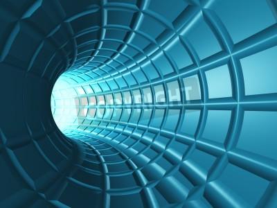 Papiers peints Web Tunnel - Tunnel radial avec une trame en perspective comme grille.