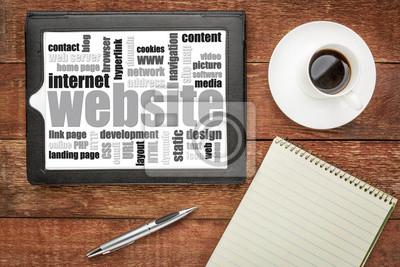 Papiers peints website word cloud on tablet