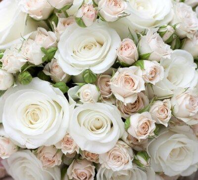 Papiers peints Wedding bouquet de roses blanches pinkand