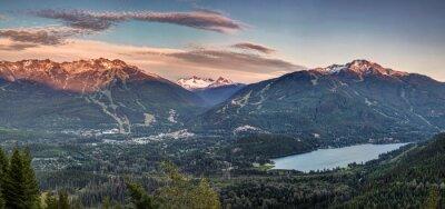 Papiers peints Whistler Blackcomb coucher de soleil Panorama