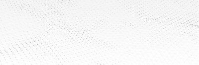 Papiers peints White Gray background. 3d dotted surface. Futuristic landscape. Technology presentation backdrop. Vector illustration