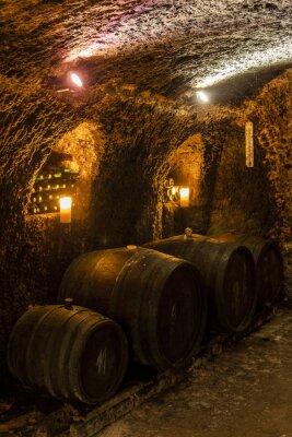 Papiers peints wine cellar in Velka Trna, Tokaj wine region, Slovakia
