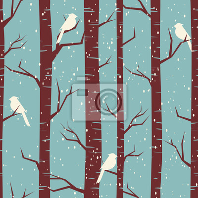 Winter Forest Seamless