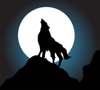Papiers peints Wolf howl background