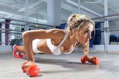 Papiers peints Woman push-ups on the floor