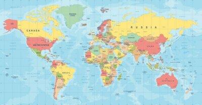 Papiers peints World Map Vector. Illustration détaillée de la carte du monde
