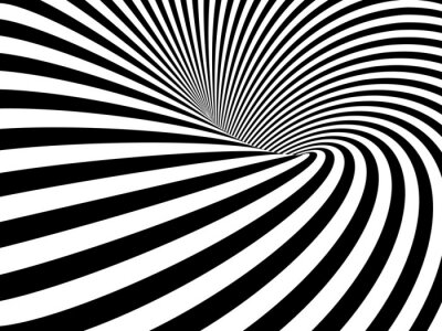 Papiers peints Wormhole Optical Illusion