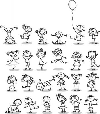 Papiers peints Симпатичные счастливых детей мультфильм