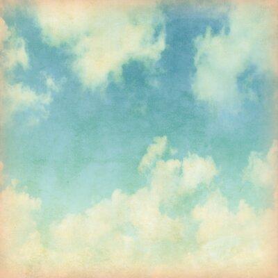 Papiers peints Ciel bleu avec des nuages dans le style grunge.