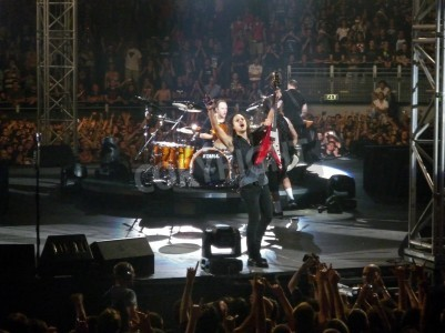 """Papiers peints Concert of the band """"Metallica"""", Rome 24 June, 2009. The band."""
