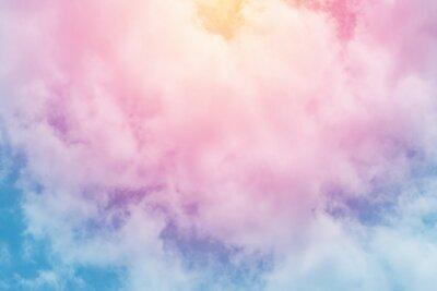 Papiers peints fond de soleil et de nuages avec une couleur pastel