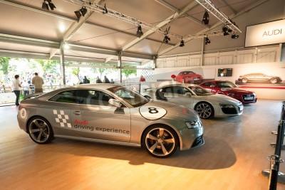 Goodwood, au Royaume-Uni - 1 Juillet, 2012: Collection de voitures Audi sur l'affichage au Festival of Speed événement de sport automobile tenue à Goodwood, au Royaume-Uni