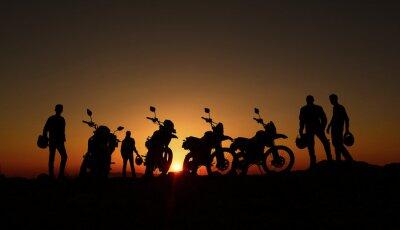 Papiers peints gündoğumu izleyen motorcular